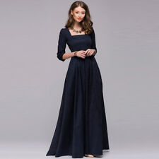 Women's 50s Hepburn Style Vintage 3/4 Sleeve Party Cocktail Evening Swing Dress