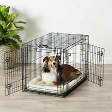 2 Door Dog Crate Metal Folding Portable Pet Cat Kennel Cage w Divider & Tray 36""