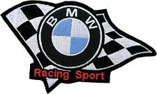 PATCH BMW RACING SPORT EMBROIDERY THERMOADHESIVE EMBROIDERED cm 9 x 6