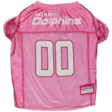 Miami Dolphins Pink Mesh Dog Jersey