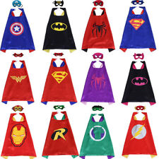 Superhero Cape and Mask Set Party Favors Superhero Birthday Party Dress Up Capes