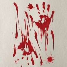 1 Pcs Wall Sticker Graphic Footprints Scary Sticker Horror Sticker Haunted House