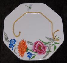 LYNN CHASE FLORES PLATE YELLOW/GOLD RIBBON  NEW NO TAGS
