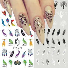 Nail Art Sticker Water Transfer Decal Dream Catcher Feather Polish Tattoos Decor