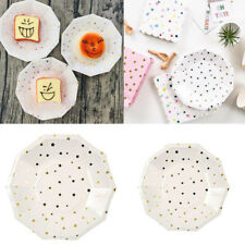 8pc Disposable Paper Plates Party Tableware Events Catering Wedding Birthday