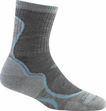 1932 DARN TOUGH SLATE LT. CUSHION HIKER MICRO CREW Womens Bike/Run Socks M Wool