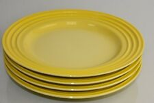 NEW Le Creuset Soleil Sun Yellow 4 PC SET of Salad Plates SOLD OUT 8 availailabl