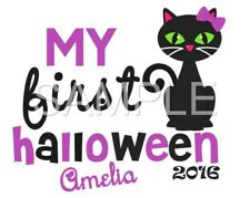 1ST Halloween personalized iron on transfer (choice of 1)