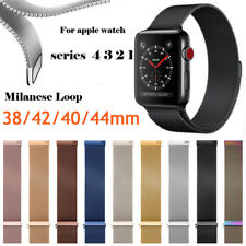 For Apple Watch Series 3 2 1 Milanese Stainless Steel iWatch Band Strap 38 42MM