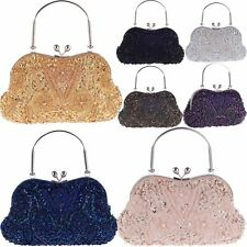 Vintage Style Beaded Formal Evening Clutch Bags Wedding Party Prom Purse Handbag