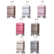 Korean Women Trolley Suitcase Hardside Carry On Trunk Retro Rolling Luggage Bag