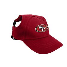San Francisco 49ers NFL Licensed LEP Dog Pet Baseball Cap Hat Sizes S-XL