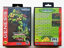 TMNT Streets of Rage 2 + Custom Case Teenage Mutant Ninja Turtles Sega Genesis