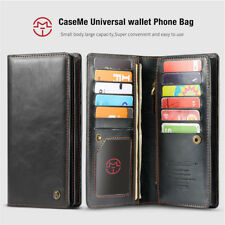 CaseMe Universal Leather Wallet Case Cover Phone Bag For Samsung Note 9 iPhone X