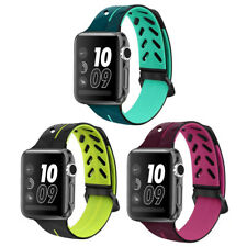 38/42mm Replacement Sport Silicone iWatch Band Strap fr Apple Watch Series 1 2 3