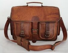 Mens Genuine Leather Laptop Vintage Shoulder Briefcase Messenger Satchel Bag