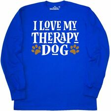 Inktastic I Love My Therapy Dog Long Sleeve T-Shirt Support Emotional Owner Cute