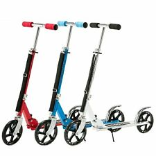 Folding Aluminum Kick Scooter Adjustable Height 36-41'' Foldable or Kids Adult