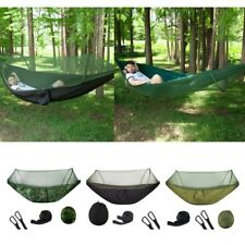 Portable Camping Jungle Parachute Hammock With Mosquito Net, Straps ,Carabiners