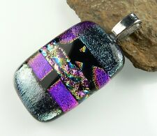 39 pendant options: With cord, in gift box, genuine dichroic glass pendant