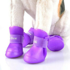 Pet Dog Cute Waterproof Boots Protective Rubber Rain Shoes Candy Colors Booties