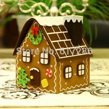 Free shipping! 1pc Christmas gingerbread house felt brown house candy bag