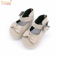 5.6CM BJD Doll Shoes Sneakers Accessories for Dolls, Mini Toy Boots with Bow