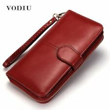 Women Wallet Female Purse Leather Long Trifold Coin Card Holder Money