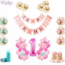 1st Birthday Party Decoration Kids Balloons Diy Number 1 First Baloon Foil