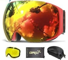 Magnetic Ski Goggleswith Quick-change Lens and Case Set 100% UV400 Protection