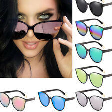 Women's Vintage Mirror Designer Flat Lens Sunglasses Retro  Glasses Eyewear US