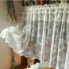 Lace Floral Swags Door Curtain Panels Pelmet Valance Fabric Home Furniture Adorn