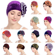 New Women Flower Muslim Beanie Cancer Chemo Velvet Cap Turban Hat Headscarf Wrap