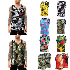 Mens Summer 3D Printed Tank Tops Sleeveless T-shirt Casual wear Graphic Tee Vest