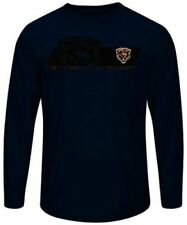 Chicago Bears Mens Long Sleeve Synthetic Storm Shirt Navy Blue Big Sizes