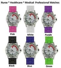 Nurse Medical Braided Silicone Professional Glow & Light Watch *5 Great Colors!