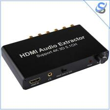 HDMI 5.1 Channel Audio Extractor Converter AC-3/DTS Decoder RTOS DTS 4K RCA