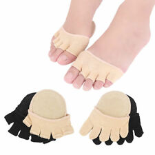 2 Pairs Toe Heelless Forefoot Half Boat Socks Paws Cover Foot Undies Ballet Yoga