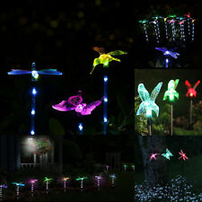 Butterfly Solar Power Garden Stake Pathway Waterproof  Lights Color Change Decor
