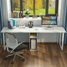 Computer Desk Home Office Furniture Double Workstation Table 78'' Modern Style