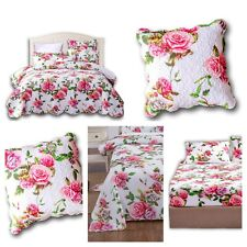 DaDa Bedding Romantic Roses Cotton Spring Floral Bedspread Sheets Pillow Covers