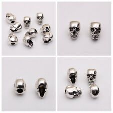 10/20 Skull Head Antique Silver Spacer Beads Jewelry Bracelet Findings 4mm Hole