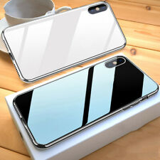 Luxury Phone Case For iPhone XS Max XS XR X 8 7 Plus Plating Tempered Glass