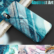 Marble Pattern Tempered Glass Back Case Cover For iPhone 11 Pro Max XS XR 8 7 6+