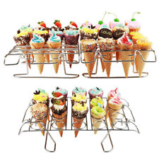 Cupcake Cone Baking Rack 12/16 Ice Cream Cone Holder Stand Cake Pastry Tray