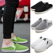 Fashion Summer Mesh Mens Casual Half Slippers Sandals Shoes Flat Loafers Slip On