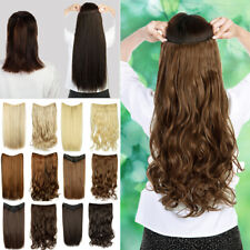 3/4 Full Head Clip In Hair Extensions Long Curly Wavy Straight V Hair Extentions