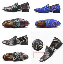 Chinese Style Embroidery Men Slip on Loafers Outdoor Casual Canvas Shoes Fashion