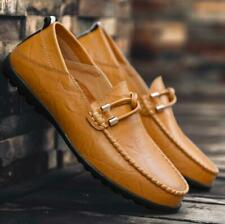 Men's Casual Driving Boat Leather Shoes Moccasin Flats Slip On Loafers Plus SIZE