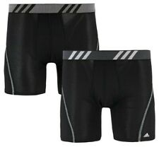 Adidas Mens Sport Performance Boxer Briefs Climacool Underwear (2 Pack) Black